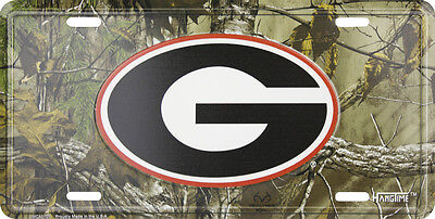 Georgia Bulldogs Car Truck Tag Camo License Plate Football Sign University