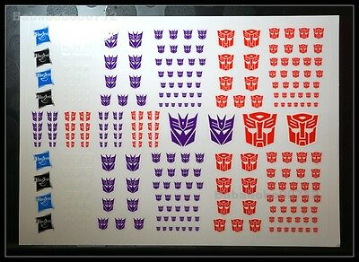 New Autobots Decepticons Symbol stickers 278pcs set for toy transformers instock