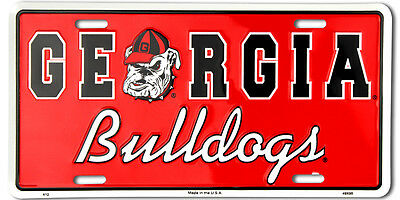 Georgia Bulldogs Car Truck Tag License Plate Sign University