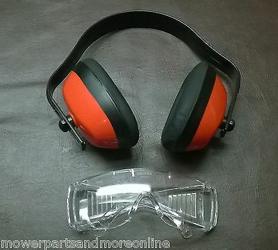 ADJUSTABLE MULTI FIT OVER HEAD EAR MUFF + GLASSES SET 28db NOISE REDUCTION