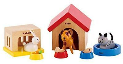 Hape- Family Pets - Wooden Dollhouse Animals