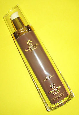 New 2016 Australian Gold Superior Dha Luxe Bronzer Indoor Bed Tanning Lotion