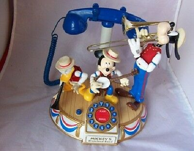 Disney Mickey Mouse Dixieland Band Animated Phone