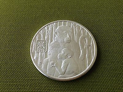 2016 1 oz Silver Year Of The Monkey Round   Chinese Lunar .999 Pure Silver