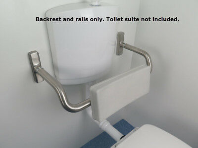 Toilet Backrest*Stainless Steel*Disability Bathroom*AS1428.1Compliant*Wheelchair