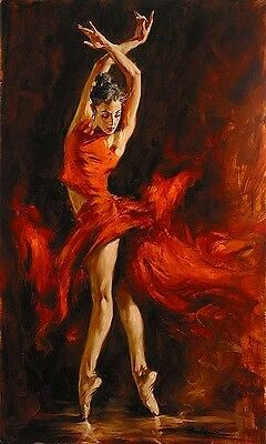 Acrylic Paint by Numbers kit 50x40cm (20x16'') Dancing DIY Painting PBN YZ7081