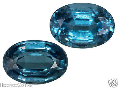 Kyanite Set Of 2 Loose Gemstones! Audrey Hepburn's Favorite Color! Ocean Blue