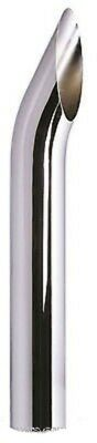 """One Brand New Chrome Exhaust Stack Curved Plain 4"""" X 6' (2754P/jw)"""