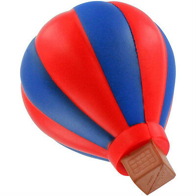 Hot Air Balloon Stress Ball Blue Red Air-Ship Novelty Squeez Toy Non Inflatable
