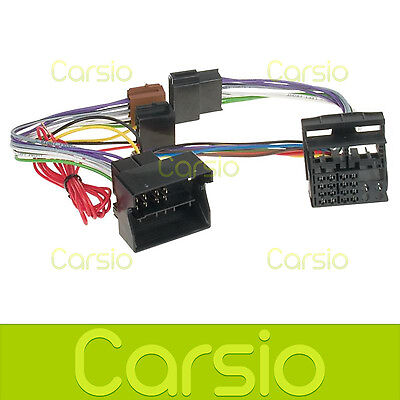 VW Golf MK5 V Hands Free Parrot/Bluetooth ISO Adaptor Lead Connector Harness
