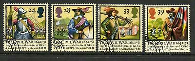 GB 1992 Civil war 350th Anniversry fine used set stamps