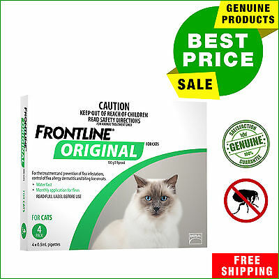 Frontline Original Flea treatment For Cats & Kittens by Merial 4 Pipettes New