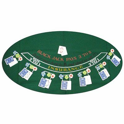 Trademark Poker Blackjack Layout, 36 x 72 Inch High Quality great for parties