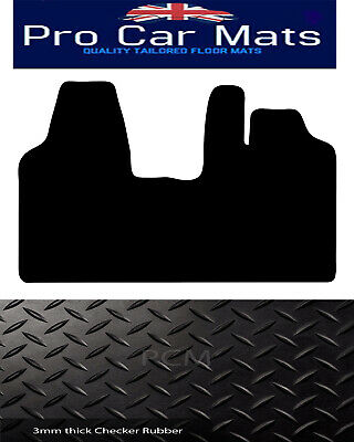 Peugeot Expert Van (2007-2016) Black Checker  Rubber Tailored Car Floor mats.