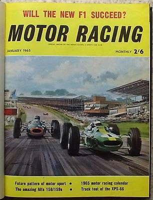 MOTOR RACING Magazines BOUND Volume 12 1965 XPS-66 F1 HEALEY SPRITE Le Mans