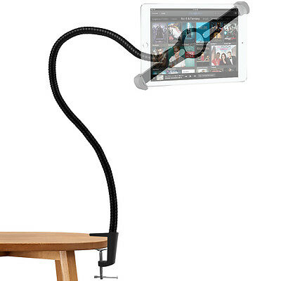 Universal Long Arm Tablet Stand 360-degree Rotating Clip-on Mount