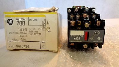 New In Box Allen Bradley 700-N600A24 Series C Type N Control Relay 24V Coil