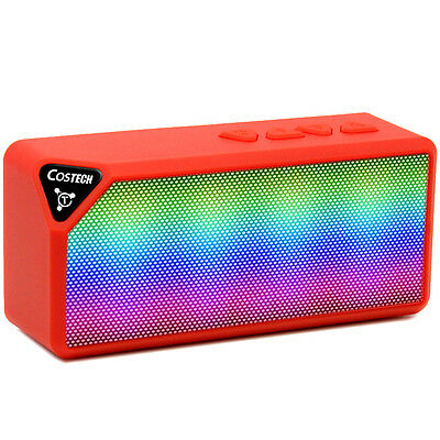 Stereo Surround Sound Hands Free LED Lights Wireless Bluetooth Built in Speaker