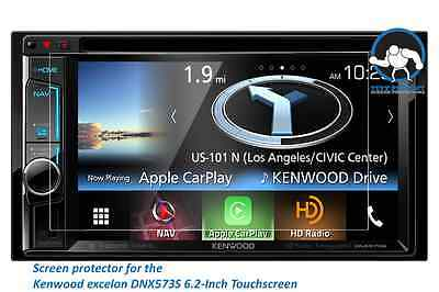 "Tuff Protect Clear Screen Protectors for Kenwood DNX573S 6.2"" (2pcs)"