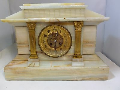 Large French Mantle Clock, circa 1870 with Urn Finial