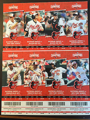 Baltimore Orioles 2015 MLB ticket stubs - One ticket - AL East Champions
