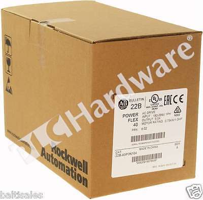 New Sealed Allen Bradley 22B-A5P0N104 /A 2015 PowerFlex 40 AC Drive 240V 5A 1HP