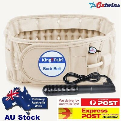 Physio Back Belt Spinal True Support Decompression Pain AirTraction Belt