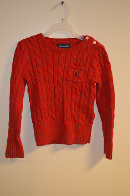 Polo Ralph Lauren Kid's Youth Boys/girls Red Sweater Pullover Long Sleeves (87)