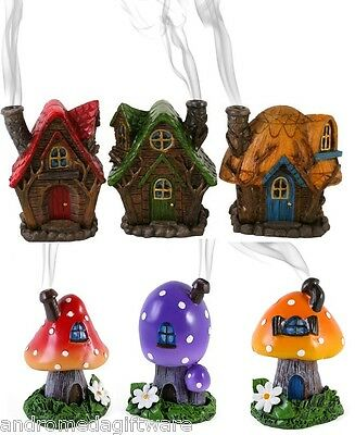 Fairy Houses Incense Burners by Lisa Parker, 6 designs !FREE UK P&P!!FREE Cones!