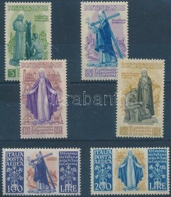 Italy stamp St. Catherine of Sienna set 1948 MNH Mi 740-745 WS187023