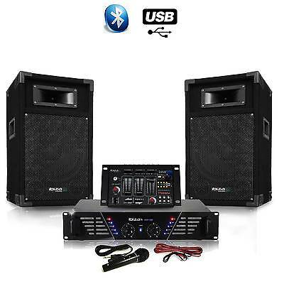 Pack Sono DJ300-BT ampli + HP 500W Table de mix