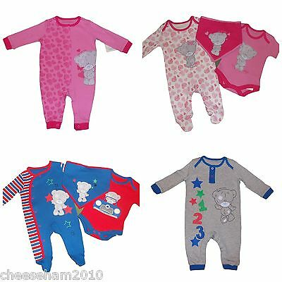 New Baby Boys/girls Me To You Romper Or 3 Piece Sleepsuit Set Tatty Teddy