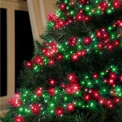 Red Green Multi Action Led Cluster Lights Christmas Tree Xmas Outdoor Indoor