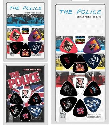 Perri's The Police Pick / Plectrum Pack - Choice of 6 Designs or 12 Designs