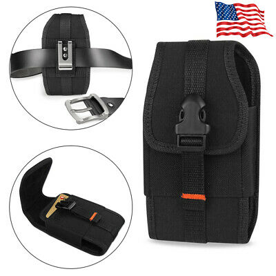 REIKO Vertical Heavy Duty Rugged Canvas Belt Clip Loops Case for Samsung Phones