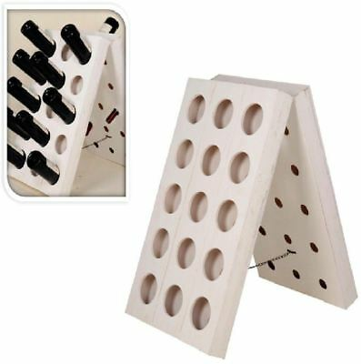 30 Bottle Luxury White Retro Wine Rack Stand Holder Wooden Storage Unit 297144
