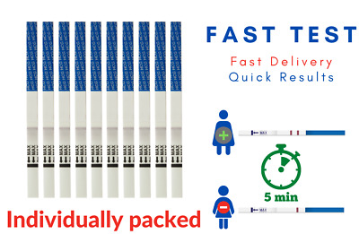 10X ultra Early detection home urine pregnancy tests. Extra Wide strips 4m. UK