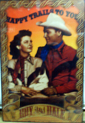 Roy Rogers and Dale Evans Metal Reproduction Sign