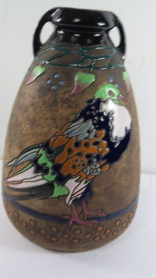 Antique Amphora Teplitz Campina  Vase Arts  and Craft Mission Style 16 inches