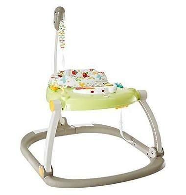 Fisher-Price Woodland Friends Space Saver Jumperoo Light-up Musical Piano