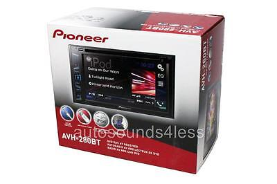 "NEW Pioneer Double 2 Din AVH-280BT DVD/MP3/CD Player 6.2"" Touchscreen Bluetooth"