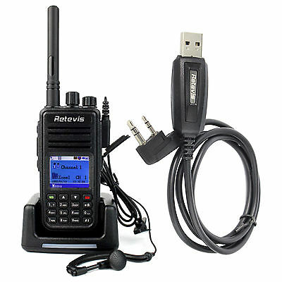 Retevis RT3 Digital Movible Radios 5W UHF400-480MHz VOX 1000CH 2000mAh+USB Cable