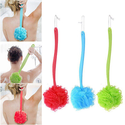 Soft Exfoliating Back Bath Shower Scrubber Skin Health Clean Long Brush Washer
