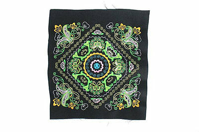 Green Butterfly Collection Embroidered Fabric Thailand