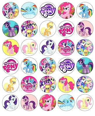 30 My Little Pony Edible Image Cupcake Topper Party Decoration
