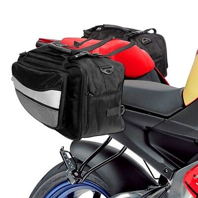 Saddle Bags Throw Over Panniers Expandable Motorbike Saddlebag Travel Luggage