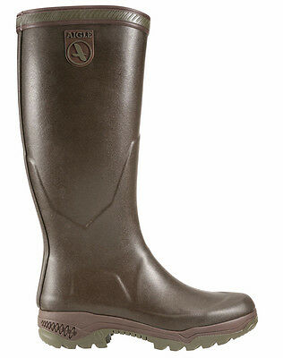 Aigle women's rubber boots Parcours 2 Lady - Jersey Lining - brown - 84205