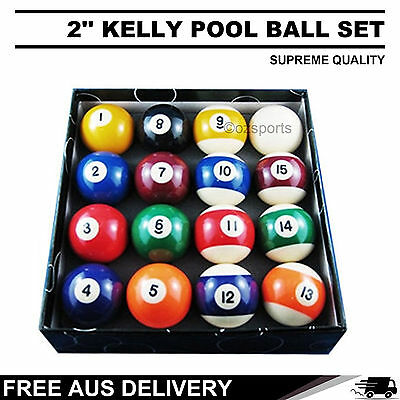 2'' Pool Balls Set Sale for All-Size Pool Tables Free AU Postage