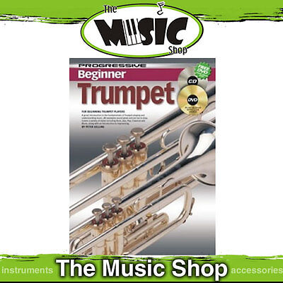 Progressive Beginner Trumpet Music Book, CD & DVD Package  -Trumpet Tuition Book