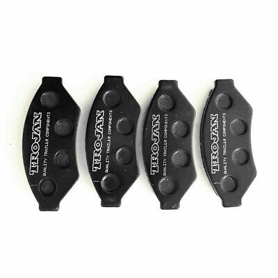 4x Trojan Trailer Hydraulic Disc Brake Caliper Standard Brake Pads PT10202